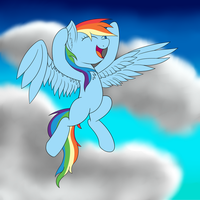 Rainbow is excited! (daily drawing #1) by kickassking