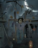 The Cowardly Scarecrow by PaintedOnMySoul