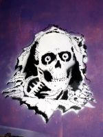 Powell Peralta Skull Stencil by 2canart