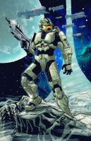 Halo Master Chief - Livestream Commission by EryckWebbGraphics
