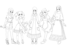 Harvest Moon Girls Dechibied by Tsuyoshi-kun