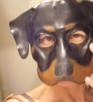 Rottie Dog Leather Mask by teonova