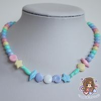 String of Pastels Seashell Necklace by PeppermintPuff