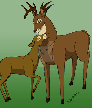 Deer couple by Triceratonfan4