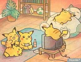 lazy chus by Paleona