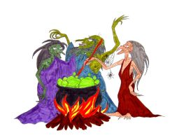 Three Vile Gruesome Hags. by Jakegothicsnake