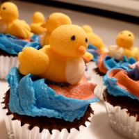 Warbler Cupcakes by quallian