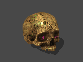 BETRAYER - GOLD SKULL by Oo-FiL-oO