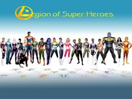 Legion of Superheroes Line-up by ColdAngel2