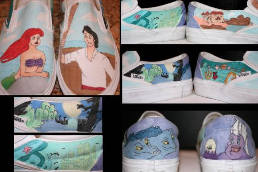 Little Mermaid Custom Shoes by ChaosShattered
