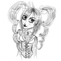 Annabelle Sketch by DemonRemorse