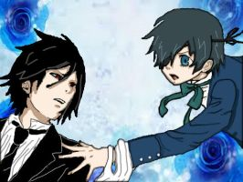 sebastian and ciel by Joey-is-gay-as-fuck