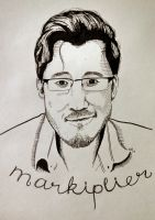 Markiplier - Pen and Ink by gabbetha7