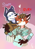 Silver and Ruby commission by El-Zorrito