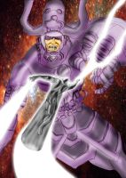 Galactus vs Silver Surfer by PaulVincent