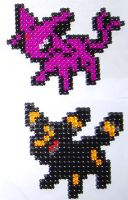 P-Blocks: Espeon and Umbreon by Snukastyle