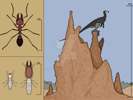 Butcher Ant and termites by Kazanlak10