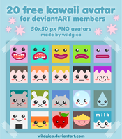20 Free Kawaii Avatar by wildgica