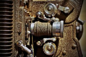 Side of an Old Projector by PAlisauskas