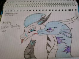 Happy late b-day drawing by xNeonshadow21