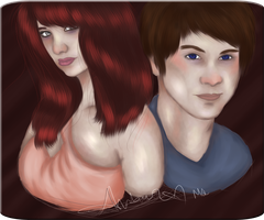 Alaric and Alexis by MissGallifrey