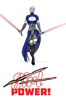 Just Power - Asajj Ventress by FireP0wer