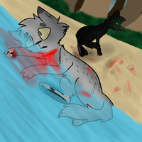 Ashfurs death  (REDRAW) by babyfawns