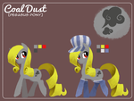 Commission: Coal Dust reference sheet by CherryPaintPony