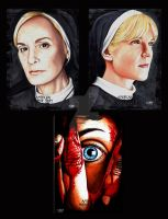 American Horror Story Asylum Sketches by Dr-Horrible