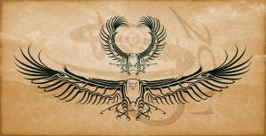 Eagle Tribal Tattoo Design by Amoebafire