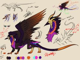 day 35 - Hauha dragon reference by Silverbloodwolf98