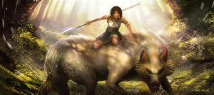 Princess Mononoke by bongbaba