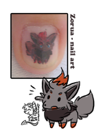 zorua quick nail art by mr-tiaa