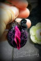 Dama Oscura: Sugar Skull Vulva Pendant by VulvaLoveLovely
