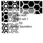 Hex wall brush set 1 by Random-Acts-Stock