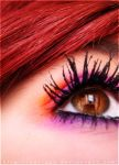 red hair and brown eyes by Katie23