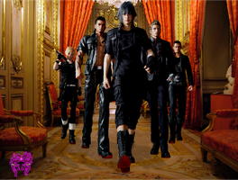 Final Fantasy XV- Noctis and his friends by TheDemonLady