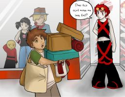 XS: Shopping Showdown by WillowWhiskers