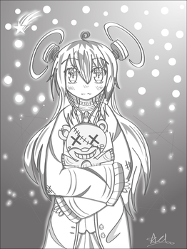 OC manga style drawing digital by timotious01