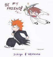 Ichigo and Veneno by swirlheart