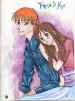 Tohru and Kyo by ArtBerry