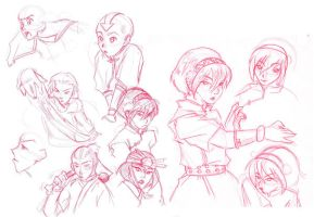 Avatar sketches by Eeni