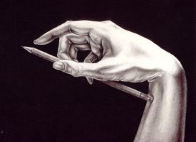 hand portrait by Enchantress-LeLe