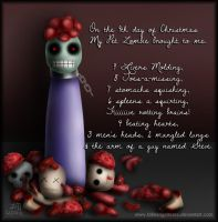 My Pet Zombie Christmas Day 9 by fallnangeltears