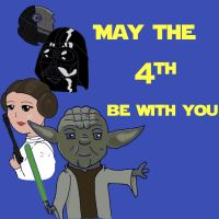 Star Wars May the 4th be with you by Hiddenwithinthunder