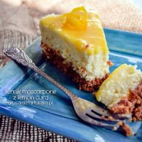mascarpone cheesecake with lemon curd by Pokakulka