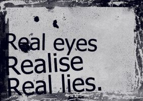 Real Eyes Realise Real Lies by CyberChristFF