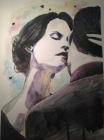 Watercolor Kiss by odamargrethe
