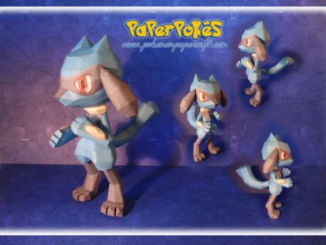 Riolu Papercraft by Lyrin-83