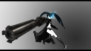 Black rock shooter 3D wallpaper (1920 x 1080 px) by Pcyzicus